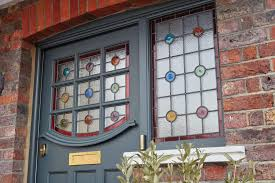 1930s stained glass front door london