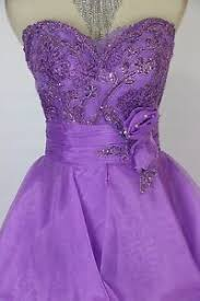 Details About Tony Bowls Size 4 Purple Strapless Ball Gown Prom Formal 450 Dress High Low New