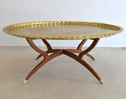Awesome Round Brass Tray Top Coffee Table 3 Photo