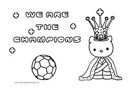 Hello Kitty Kleurplaat Voetbal Kleurplaten Voor Jou