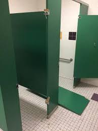 school bathroom door. Jaden Norwood Received Eight Days Of Suspension When This Bathroom Door Fell Off Its Hinge. School