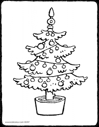 Grote Kleurplaten Kerstboom