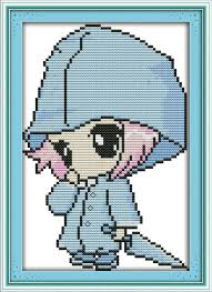 Easy Cross Stitch Patterns Fascinating Joy Sunday Cartoon Style A Little Angel Easy Cross Stitch Patterns