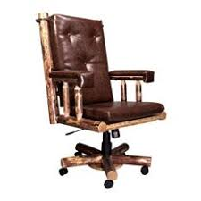 rustic office chair. Montana Woodworks - Upholstered Office Chair In Glacier Country Chairs Rustic E