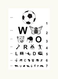 Football 2010 Eye Chart For Nz In South Africa By Brad Novak