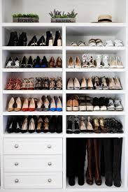 white shoe rack for closet