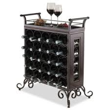 standing wine rack. Winsome Trading Silvano 25-Bottle Wine Rack In Bronze Standing