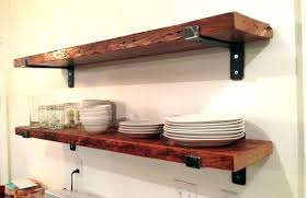 en rustic wooden floating wall shelves wood