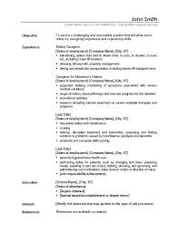 Sample Of Caregiver Resume Letter Resume Directory