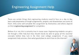 how to prepare for your engineering assignment