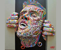 3d painting on canvas