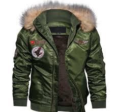 Designer Winter Jackets Fashion Designer Winter Coats Mens Fleece Lining Winter Jacket Coats Ma 1 Airborne Military Jackets Free Shipping08 Jean Coat With Fur Jackets Style