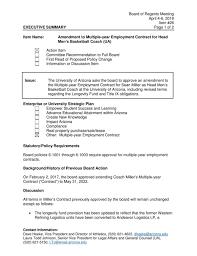 Sean Miller contract amendment ...