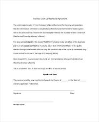 confidentiality agreement template business plan non disclosure agreement template best resume