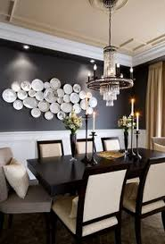 so modern and contemporary for a formal dining room love the modern plate collage find this pin and more on art deco