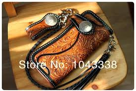 tooled leather wallet new fl filigree handmade carved tattoo biker in wallets from luggage bags on tooled leather wallet