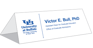 name tent table tent cards identity and brand university at buffalo