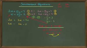 solving simultaneous equations c1 edexcel a level maths