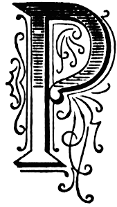 P Ornate Initial Clipart Etc