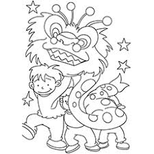 coloring pages chinese new year