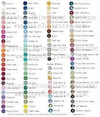 Swarovski Ab Color Chart All Swarovski Rhinestone Colors Sizes By Crystal Kitten
