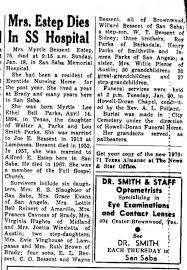 Myrtle Parks Bessent Estep Obituary - Newspapers.com