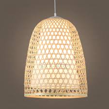 nordic handmade bamboo pendant light hollow design