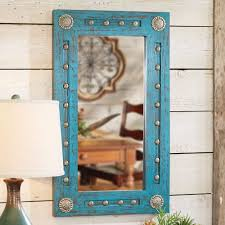 wood mirror frame ideas. Turquoise Silver Trails Wood Mirror Frame Ideas T