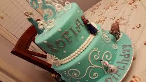 Disney Frozen Movie Cake 2 Tier Fondant Princess And Character