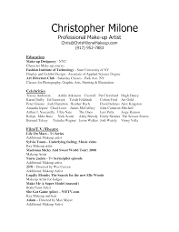 Awesome Collection Of Makeup Artist Resume Sample Unique Example