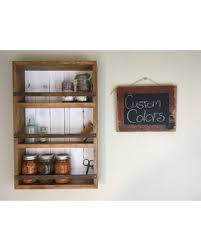 Farmhouse Shelves, Spice Rack, Kitchen Shelves, Farmhouse Style Kitchen  Decor, Mason Jar