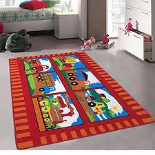kids baby room daycare classroom playroom area rug big truck