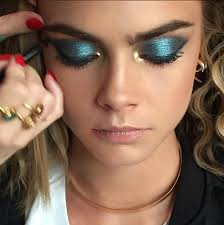 70 s disco blue and gold for cara delevingne tonight
