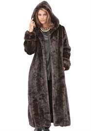 roamans women s plus size long faux fur coat
