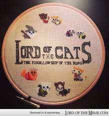 My friend's super amazing at cross-stitching and loves lotr ... via Relatably.com