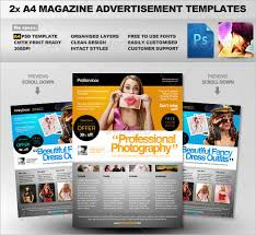 template for advertisement 12 converting magazine ad templates free premium templates