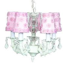 jubilee collection stacked glass ball white five light mini chandelier with petal flower pink chandelier