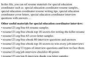 special education coordinator cover letter sample superpesis net special education cover letter sample
