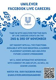 live careers unilever facebook live events for recruitment kent business