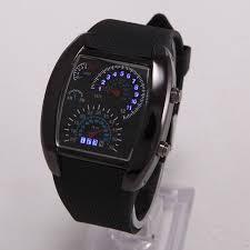 men s digital led watch speedometer style sixty six depot