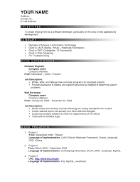 Most Successful Resume Template Gallery Of Sample Template Of Excellent Fresher Or Experience 5