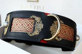 seraphim uniquely hand crafted leather dog collar for large breeds