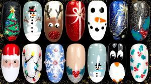 How To Christmas Nail Designs 10 Easy Christmas Nail Art Ideas Nail Design Compilation