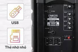 Loa Kéo Karaoke Enkor L0810K Đen 25W trưng bày