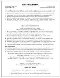 Resume For Customer Service