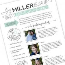 Holiday Family Newsletter Template Crescentcollege