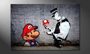 Das Moderne Wandbild Caught Mario