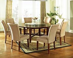 9 pc avenue 72 round dining table set with lazy susan steve silver at gowfb ca