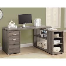 monarch computer desk dark taupe left or right facing corner