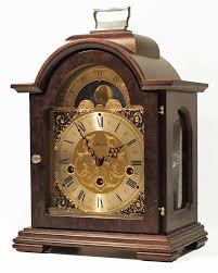 hermle debden 22864 030340 keywound walnut mantel clock